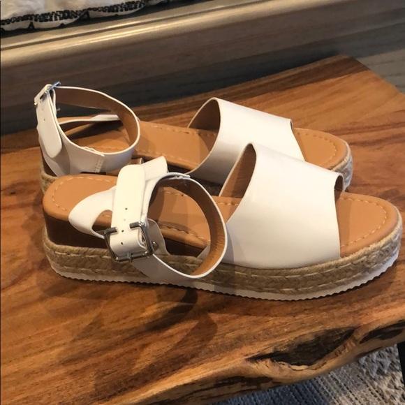 Amazon Shoes | White Platform Sandals